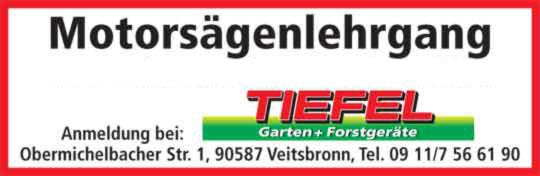 Motorsägenlehrgänge mit Zertifikaten in Fürth und Umgebung